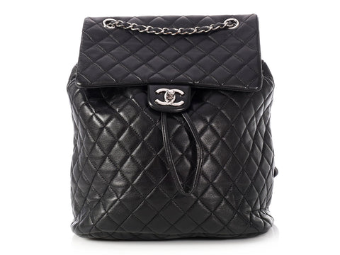 Chanel Large Black Quilted Lambskin Urban Spirit Backpack