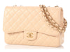 Chanel Jumbo Beige Clair Quilted Caviar Classic Single Flap