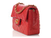 Chanel Mini Red Quilted Lambskin Vintage Classic Single Flap