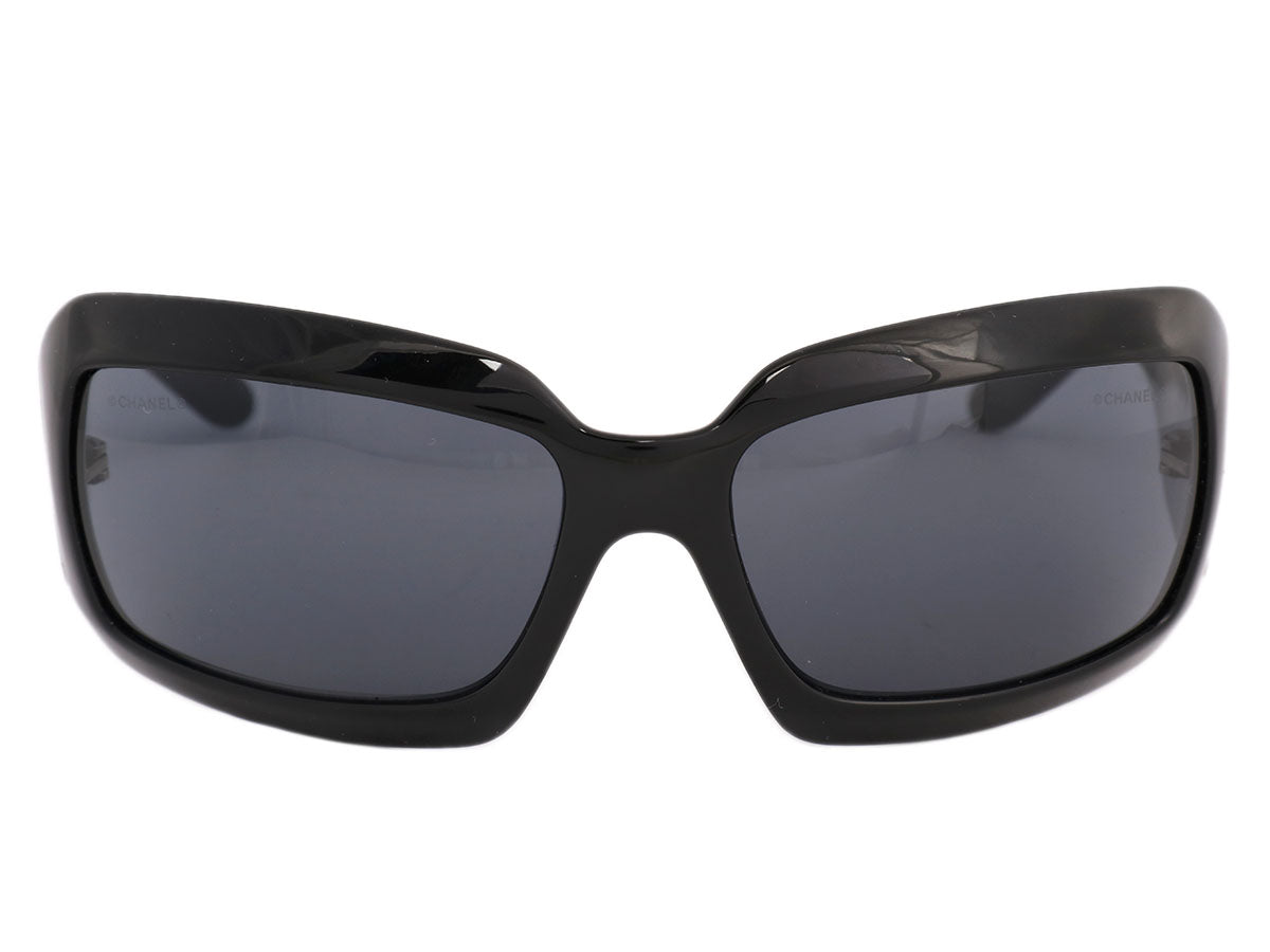 Chanel Black Mother of Pearl Sunglasses