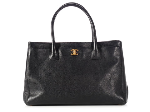 Chanel Black Caviar Cerf/Executive Tote