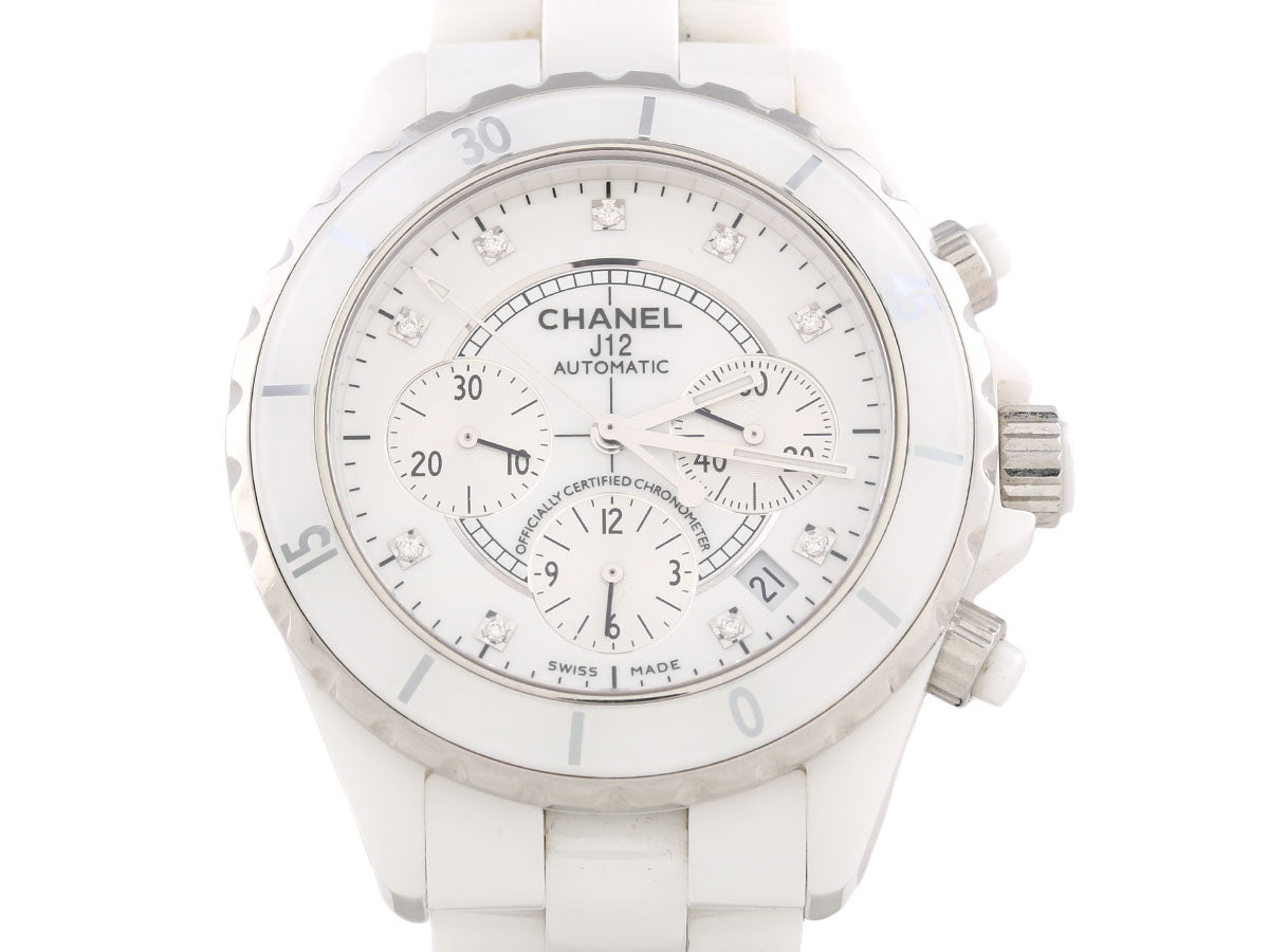 Chanel J12 White Chronograph Watch 42mm