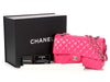 Chanel Medium/Large Pink Quilted Lambskin Classic Double Flap