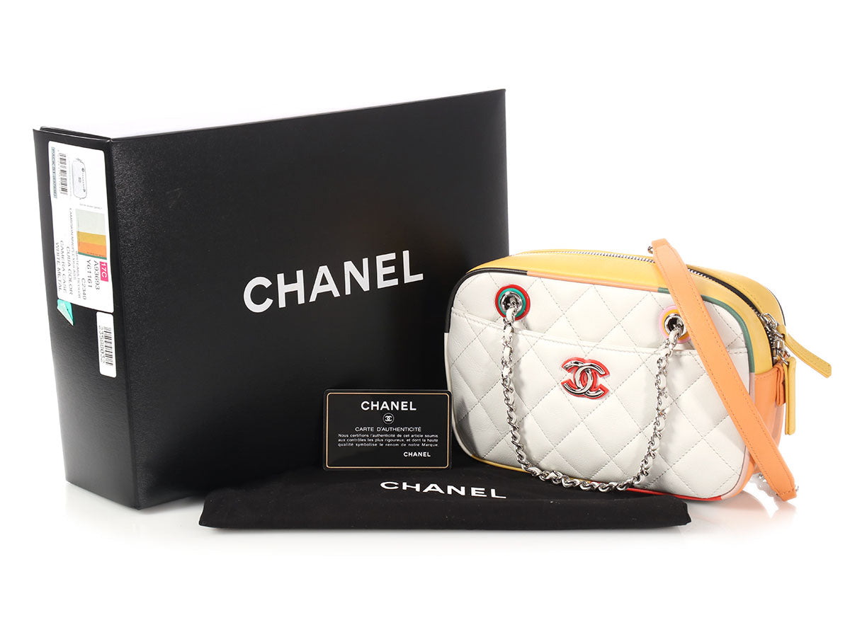 fcc638959a25 Chanel White Quilted Lambskin Cuba Camera Case. Images / 1 / 2 / 3 / 4 / 5  / 6 / 7 / 8 / 9 ...