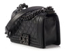 Chanel Small So Black Quilted Caviar Boy Bag