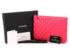 Chanel Large Pink Quilted Lambskin O Case
