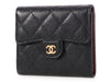 Chanel Black Quilted Calfskin Compact Double-Sided Wallet