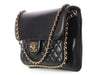 Chanel Black Calfskin and Quilted Lambskin Flap
