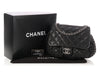 Chanel Large Black Quilted Distressed Chain Around Bag