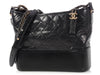 Chanel Medium Black Quilted Distressed Gabrielle Hobo
