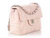 Chanel Mini Pink and Peach Tweed Bouclé Classic Single Flap
