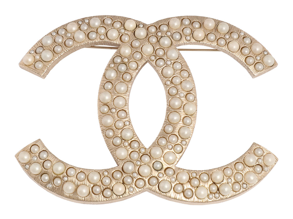 Chanel Extra Large Pearl Logo Pin