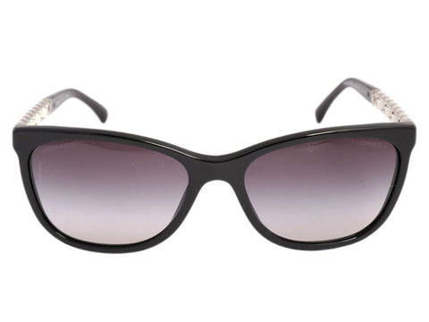 Chanel Black Chain Arm Sunglasses