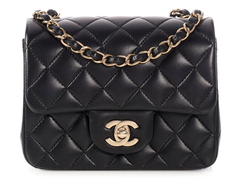 Chanel Mini Black Quilted Lambskin Classic Single Flap