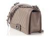 Chanel Old Medium Gray Chevron Quilted Lambskin Boy Bag