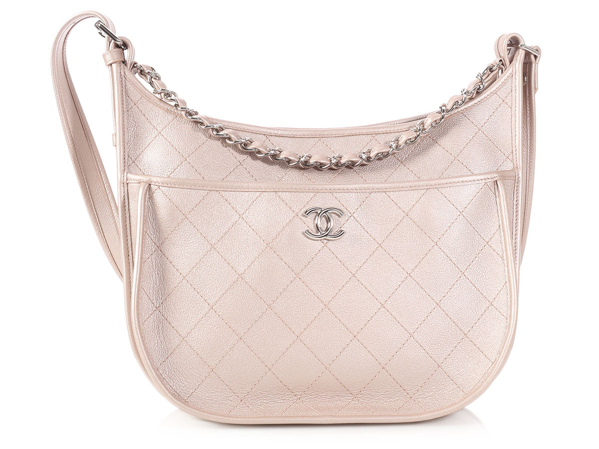 463ee95a4c64 Chanel Large Rosegold Quilted Caviar Jungle Stroll Crossbody