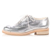 Chanel Silver PVC Lace Up Oxfords
