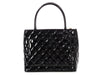 Chanel Black Quilted Patent Medallion Tote