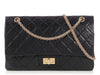 Chanel Black Distressed Quilted Calfskin Reissue 227