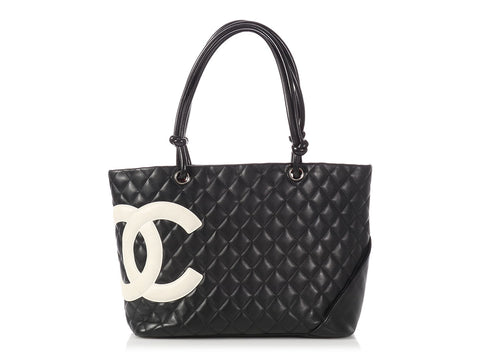 Chanel Black Quilted Cambon Tote