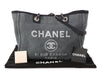 Chanel Medium Gray Fabric Deauville Shopping Tote