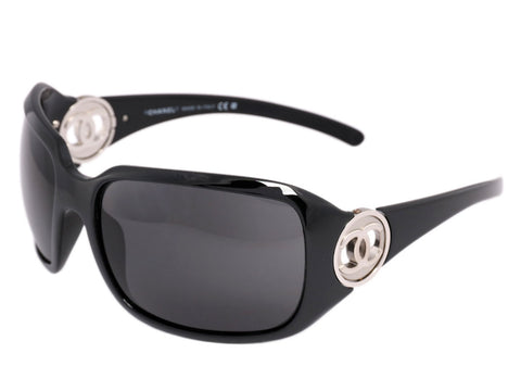 Chanel Black Logo Sunglasses