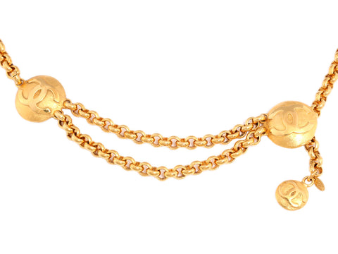 Chanel Gold Logo Chain Belt