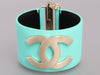 Chanel Turquoise Leather Cuff