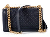Chanel Old Medium Navy Lambskin Boy Bag