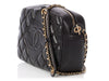 Chanel Small Black Diamond-Quilted Lambskin CC Camera Bag