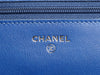 Chanel Royal Blue Caviar Wallet on a Chain WOC
