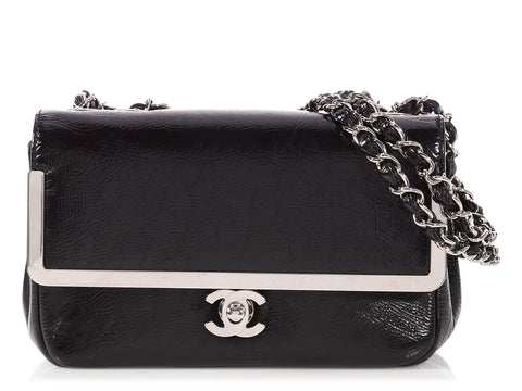 Chanel Black Patent Framed Flap