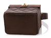 Chanel Small Brown Satin and Tortoise Box Bag