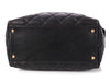 Chanel Small Black Quilted Calfskin Zip Shopping Tote