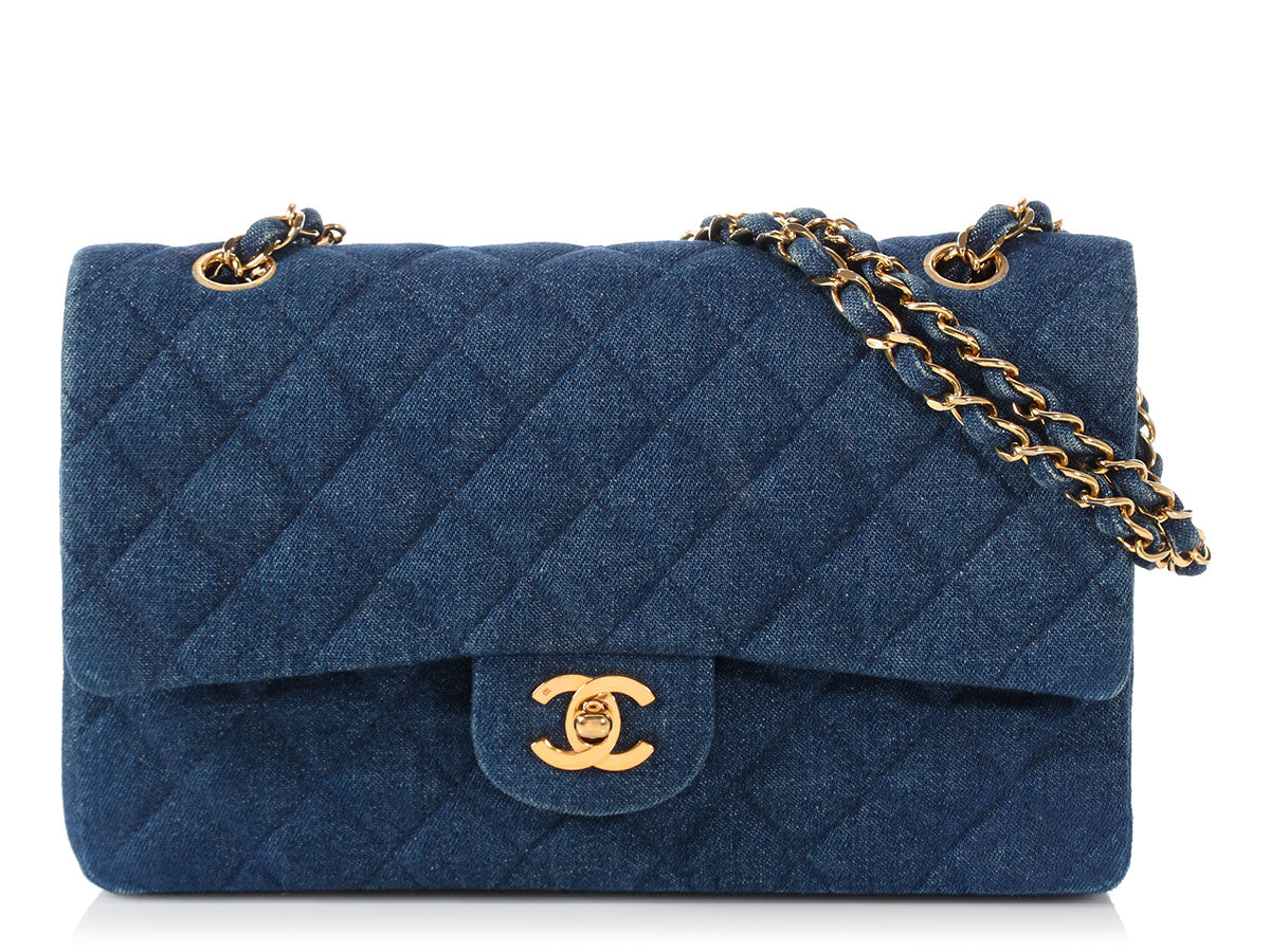 Chanel Medium/Large Denim Classic Double Flap