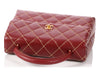 Chanel Bordeaux Surpiqué Leather Kelly Bag
