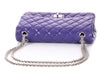 Chanel Purple Quilted Lambskin Reissue 226 Double Flap