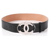 Chanel Black Leather CC Belt