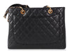 Chanel Black Quilted Caviar Grand Shopping Tote GST