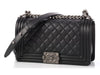 Chanel Old Medium Black Quilted Boy Bag