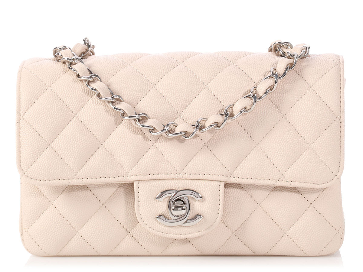 Chanel Mini Beige Quilted Caviar Classic