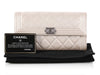 Chanel Pearly White Patent Boy Continental Wallet