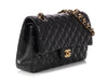 Chanel Medium/Large Black Quilted Lambskin Classic Double Flap