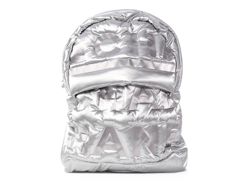 Chanel Large Silver Nylon Doudoune Backpack