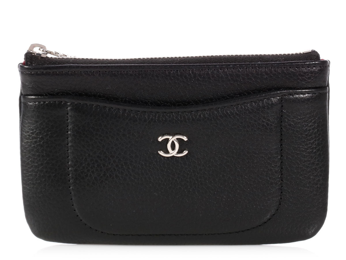 Chanel Small Black Caviar O Case 423f4fd483