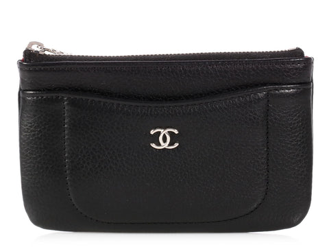 Chanel Small Black Caviar O Case
