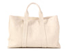 Chanel Large Cream Embossed Leather Tote