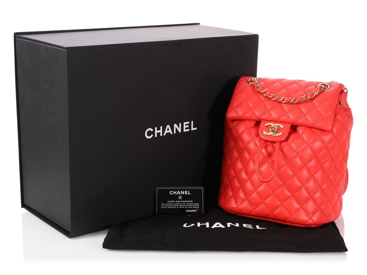 0380c91d8a34 Chanel Medium Red Quilted Calfskin Urban Spirit Backpack