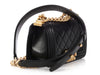 Chanel Mini Black Quilted Lambskin Boy Bag