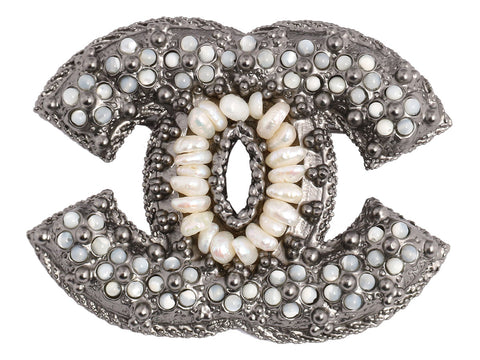 Chanel Large Pearl Logo Pin